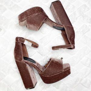 JEFFREY CAMPBELL velvet platform heels